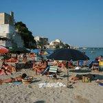 Otranto - underbar badstrand mitt i stan