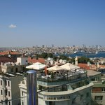 View of the Bosphorus from the rooftop restaurant