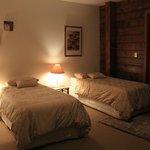 double room with single beds in Kawhaka Lodge