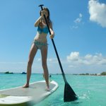 Water is so smooth, we can paddle board