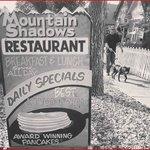 Mountain Shadows Restaurant Sign
