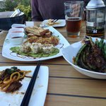 Dim Sum platter, Green beans, braised beef