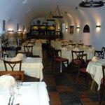 Inside portion of restaurant