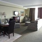Junior suite living, dining