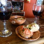 Delicious wine and tapas