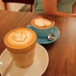 Coffees at the Pop Up Cafe