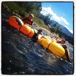 Our family tubing down the Yampa!