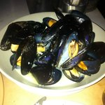 Mussels steamed fresh hot