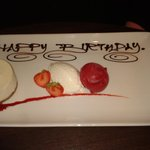 Lovely touch to dessert