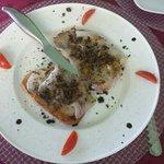 Bruschetta lardo e tartufo