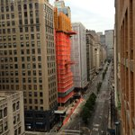 Park Avenue view from the balcony