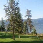 18th hole of the golf course runs along the beach