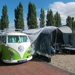 Our VW on the deluxe pitch