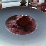Espuma de fraises, avec glace (un régal !)