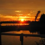 Sunset from deck of Docks Restaurant