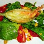 Fried stuffed Zucchini Flower