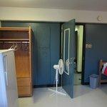 Penderie et ventilateur