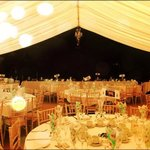 Marquee after Park Farm caterers had set the tables