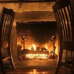 Backwall Stone Fireplace