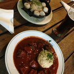 Best ever Goulash with dumpling and mixed dumplings.