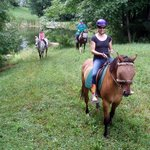 Ride through the fields, around the ponds and in the woods at First Farm Inn.