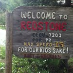 Sign for Red Stone