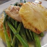 Pan seared snapper with grilled pineapple