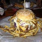 il doppio hamburger di angus