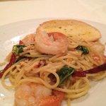 Pasta with tiger prawn
