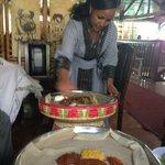 Preparing the enjera