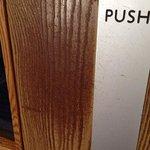 disgustingly dirty door