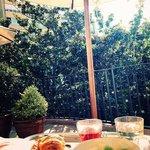 sunshine breakfast on the balcony