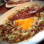 Hash Brown with an extra plate of Bacon