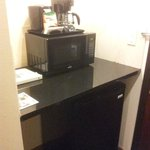 microwave and frigobar