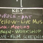 Key to The Seed's monthly calendar - it's a happenin' place!