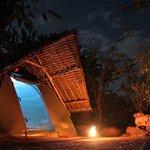 Maji Moto - Tent by night