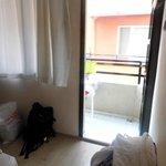 bedroom and door to verandah