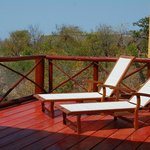 Sun deck overlooking Kruger National Park