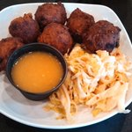 Conch fritters and slaw