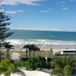 View from the apartment on the 4th floor of Mooloolaba Beach