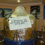 Model of the biggest Bacio ever, from 2003 chocolate festival