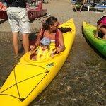 gita canoa con Chiara e Stefano