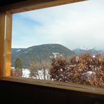 sauna con vetro vista panorama: splendida!