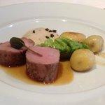 filet mignon de porc dans le menu à 40€