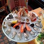 super plateau de fruits de mer exquis.