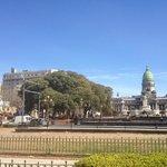vista del hotel desde la plaza del congreso nacional