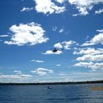 Helicopter That Was Taking Video's Of The Cigarette Boat Race