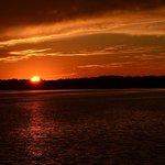 Riverboat sunset