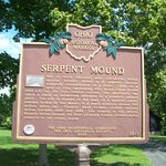 Serpent Mound historical marker