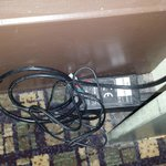 Bare wires by the side of the bed!!!